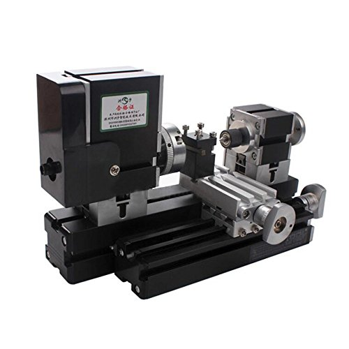 Lowest Prices! Mini Metal Lathe Soft Metalworking Woodworking Machine DIY Model Making Tools 12000rp...