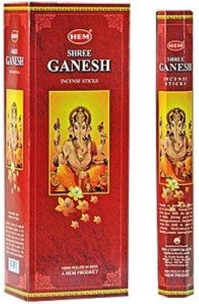 HEM Shree Ganesha Incense 6 Hexagon Packs Of 20 120 Sticks