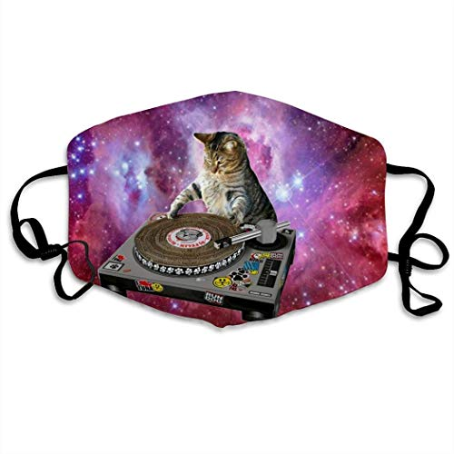 Mundschutz DJ-Cat Face Reusable Mouth Dust-Proof Windproof Facial Decorations,Mouth Cover,Adjustable Earloop,Half Face Cover