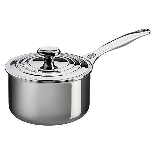 Le Creuset Tri-Ply Stainless Steel Saucepan, 2 qt.
