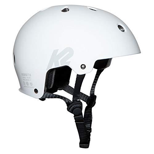 K2 Skates Unisex– Erwachsene Inline Skate Helm Varsity White — White — M (55 - 58cm) — 30F4410