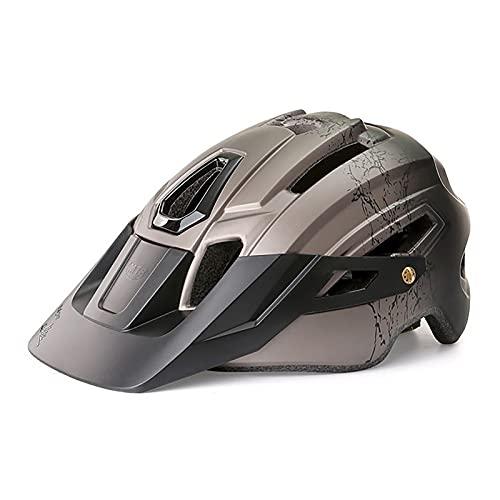 G&F Casco Bicicleta con Luz Led Visera Desmontable Carretera Montaña Ajustable Adulto Cascos Ciclismo para Hombres Mujeres (Color : Gray, Size : 58-61)