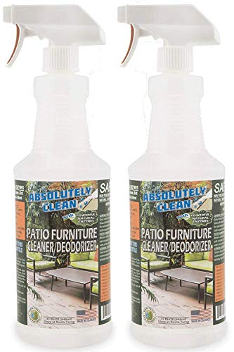 Amazing Patio Furniture Cleaner - Natural Enzymes Easily Remove Dirt, Bird Droppings, Food and Mildew Stains and More from Your Outdoor and Patio Furniture - USA Made