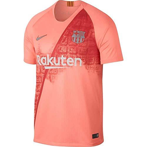 Nike Herren FC Barcelona Breathe Squad 3rd T-Shirt, Light Atomic Pink/Silver, XL