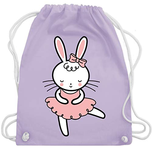 Shirtracer Tiermotive Kind - Ballerina Hase - Unisize - Pastell Lila - ballerina kinder - WM110 - Turnbeutel und Stoffbeutel aus Baumwolle