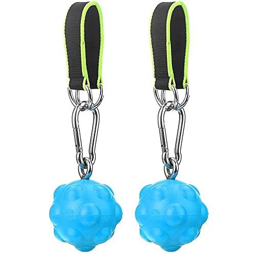 2 unids Escalada Pull Up Power Ball Sobry Hold Sobres, Duraderos y Antideslizantes Trainer Trainer Partizer con Correas, para Bouldering Kettlebells Fitness,Azul