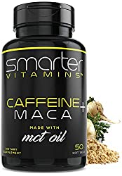 Smarter Vitamins Caffeine + Maca best caffeine pills for workout