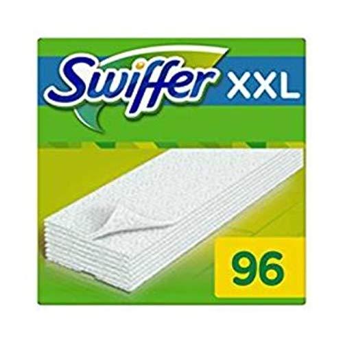 Swiffer Dry XXL Panni Cattura Polvere, 96 Panni, Cattura e Intrappola Polvere e Sporco, Ottimo per I peli di Animale, per Tutti I Tipi di Pavimenti, Maxi Formato