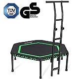 MOVTOTOP Fitness-Trampolin mit haltegriff, Ø122cm Trampolin für Jumping Fitness Körpertraining...