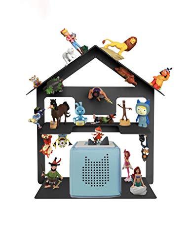 Tonie Box Regal, Tonie Regal für Kinder Sammelset Haus - Tonie Toniebox Zubehör - Geeignet für über 32 Tonies - Magnetisch beliebig fixierbar in anthrazit-grau (Anthrazit-grau)