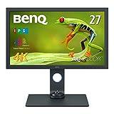 BenQ SW271C 27型プロ向けモニター (4K UHD/HDR10/HLG/IPS/AdobeRGB 99%/USB-C/60W給電/HWキャリブレーション/映像編集/ムラ補正/遮光フード)