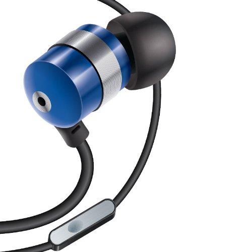 Gogroove Ecouteurs Intra-Auriculaires Anti-Bruit Ergonomiques Oreillettes Filaires Interchangeables, Stéréo Kit Piéton, Micro Intégré - Compatible avec Smartphones, Tablettes, MP3/MP4 - Bleu
