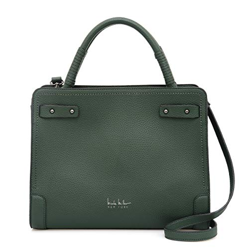 Nicole Miller Handbags Evie Large Satchel in Forest Green