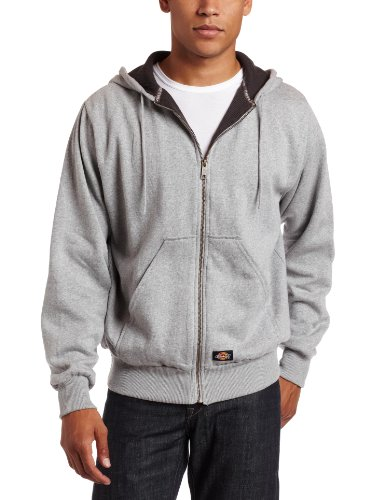 Dickies Men's Thermal Lined Fleece Jacket, Ash Gray, Large
