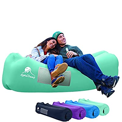 AlphaBeing Inflatable Lounger - Best Air Lounger for Travelling, Camping, Hiking - Ideal Inflatable Couch for Pool and Beach Parties - Perfect Air Chair for Picnics or Festivals from ALPHABEING