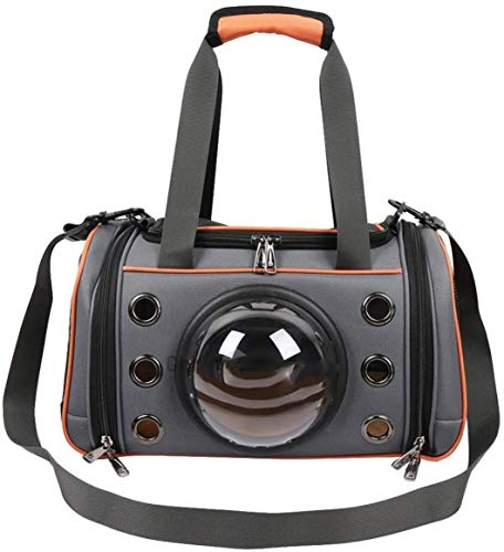 ZKZKK Pet Carrier Backpack Dog Cat Carrier,Space Capsule Shape Breathable Handbag,Orange,S Light Weight Pet Carrier Backpack
