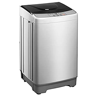 Portable Washer and Dryer Combo, 13.3lbs Large Capacity Portable Washing Machine, Full-Automatic Laundry Washer Spin, 10 programs 8 Water Level, LED Display, Small Washer for Apartment