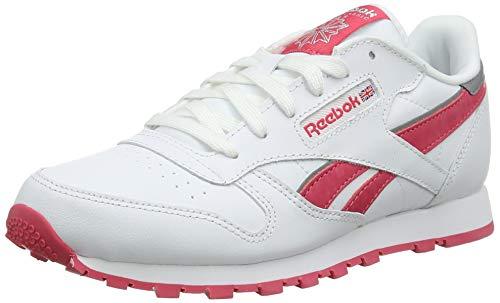 Reebok Reebok Classic Leather, Unisex-Kinder Laufschuhe, Mehrfarbig (Reflect White/Fearless Pink/Silver Met), 39 EU