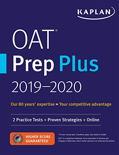 Compare Textbook Prices for OAT Prep Plus 2019-2020 Proprietary Edition ISBN 9781506235233 by Kaplan Test Prep