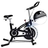 Indoor Cycling Exercise Bike Cycling Bike Stationary with Magnetic Resistance and Electronic Display Panel for Home Cardio Workout Bike Training