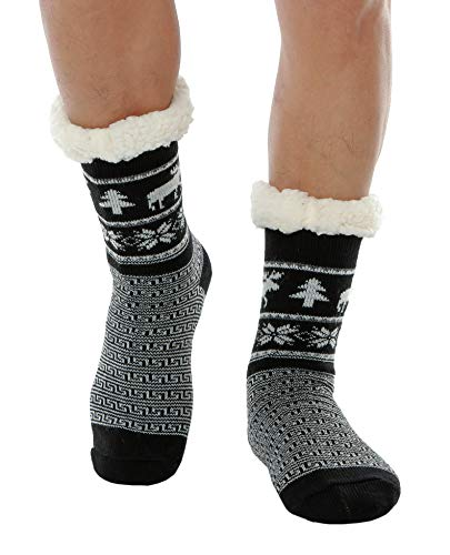 WYTartist Mens Slipper Socks Fuzzy Warm Fleece Lined...