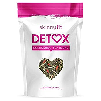 SkinnyFit Detox Tea  All-Natural Laxative-Free Supports A Healthy Weight Helps Reduce Bloating Natural Energy Supports Immune System Vegan 28 Servings