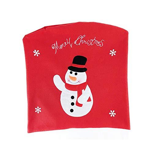 kentop Weihnachten Deko stuhlhussen stuhlabdeckung silla Funda para decoración navidad mesa comedor decoración, muñeco de nieve, 49×55cm