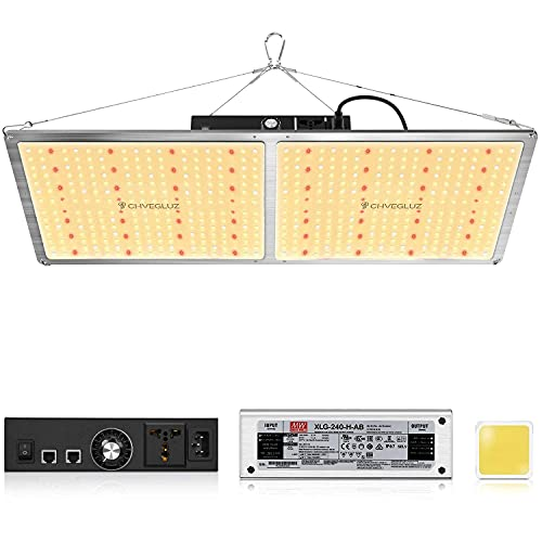 CHVEGLUZ CH2000 LED Grow Light with Samsung LM301H & OSRAM Diodes Dimmable Grow Lights Full Spectrum for Indoor Hydroponic Plants Veg Bloom with MeanWell Driver