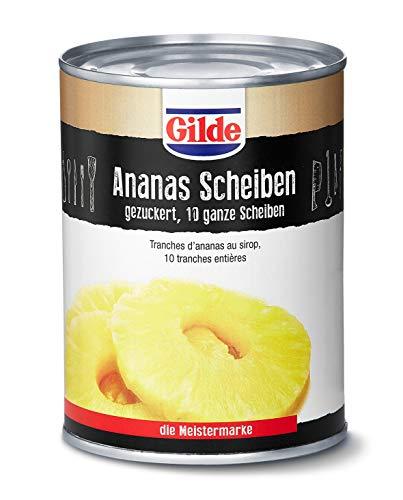 Gilde Ananas in Scheiben in Sirup (6x580 ml)