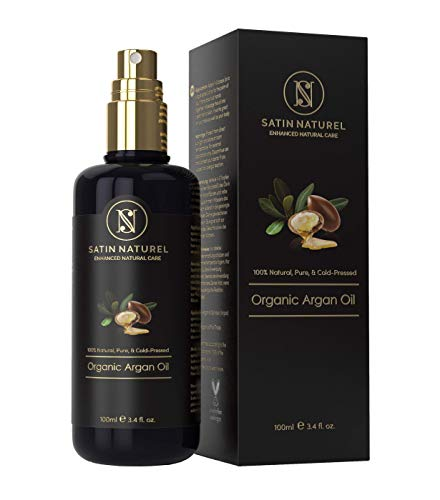 THE WINNER 06/2020* ORGANIC Argan Oil Vegan, Cold-Pressed + 100 % Pure 100 ml - Skin Care Rich in Vitamins for Anti-Aging, Young, Soft Skin, Healthy Hair & Nails – Satin Naturel Natural Cosmetics