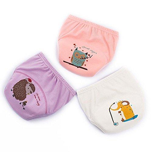 YWXJY Baumwolltrainingshosen-Unterwäsche-wasserdichte Mädchen-Jungen, Kleinkind-Baby-waschbare Windel-Schlüpfer-ändernde Windel, lernende Hosen, 6 Schichten, NEUES, 120#, C2