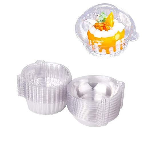 Cupcake-Schachteln, Kunststoff, einzelne Cupcake-/Muffin-Behälter, 100 Stück