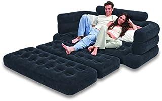 اريكة قابلة للنفخ تسع لشخصين وتتحول إلى سرير عند سحبها من انتكس، Sb Lg 68566 – لون اسود