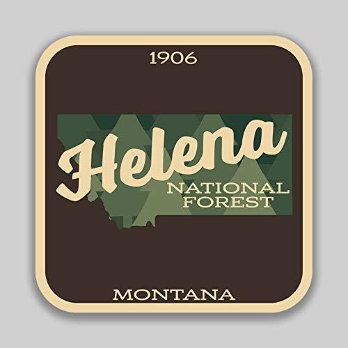 JMM Industries Helena National Forest Montana Vinyl-Aufkleber für Autofenster Stoßstange, 10,2 cm, Premium-Qualität, UV-Schutz, Laminat PDS1404