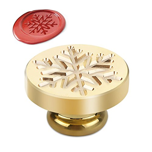 Powstro Stamp Seal Sealing Wax kit, Retro Classic Vintage Seal Wax Stamp Seal Maker Stick Gift Box Set (Snow Head)