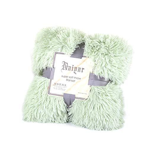 Tixiyu Manta de pelo sintético súper suave, pelo largo, reversible, ultra felpa, peludo, ligera, felpa, manta decorativa para sofá, cama