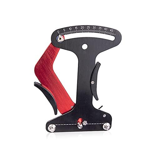 ZHANGSUYUAN Medidor de indicador de bicicleta Tensiómetro Bicicleta Tensión Tensión Constructores de ruedas Herramienta Herramienta de ajuste de reparación de lapos de bicicleta ( Color : BLACK )