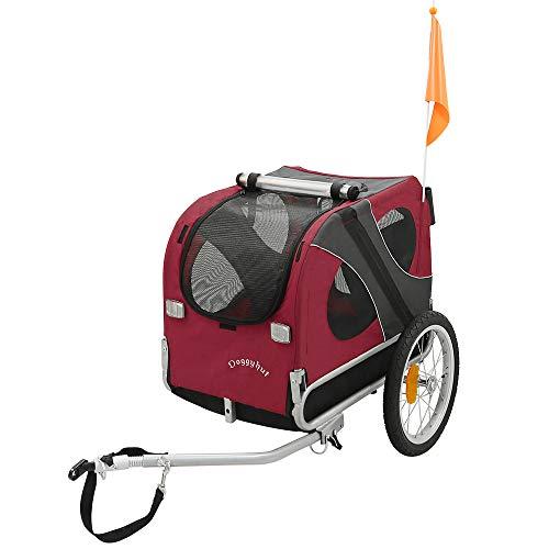 Doggyhut® Hundeanhänger Hunde Fahrradanhänger Hundetransporter MEDIUM ROT 10115-01