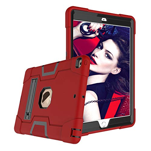 New iPad 10.2 Case 2019, Heavy Duty Drop Proof Shockproof Protective Hybrid High Impact Resistant Armor Defende Cover with Kickstand for Apple 7th Generation 2019 Case 10.2 inch (Red&Black)