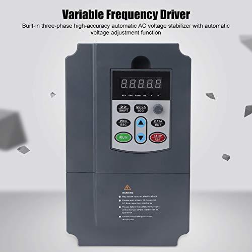 220V a 380V 0.75KW Convertidor de frecuencia VFD, 0Hz-3000Hz Monofásico Entrada 220VAC Trifásico 0-380VAC Salida Variadores de frecuencia Variador Convertidor Motor Inversor