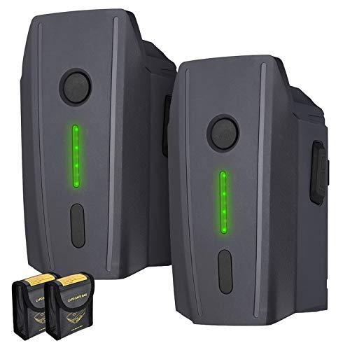 Mavic Pro 3830mAh Battery Replacement for DJI Mavic Pro, DJI Mavic Pro Platinum, DJI Mavic Pro White with 2 Battery Safe Bag-2 Packs(Not Fit for Mavic 2)