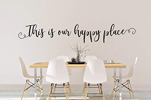 Sticker mural en vinyle This is Our Happy Place This is Our Happy Place
