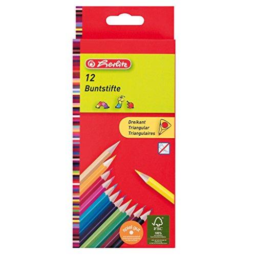 herlitz Dreikantbuntstifte lackiert/10412021 Inh.12