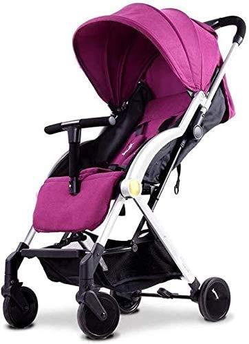 GPWDSN baby fietsers, sportkinderwagen kinderwagen Folding Buggy lichte zuigelingenspeelruimte buggy kan zitten en ligstoelen (kleur: groen)