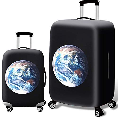 KYEEY Cover Protector Baggage Covers 3D Anti-scratch Elastic Camouflage Tavel Luggage Cover Fit For 18-32 Luggage Luggage Cover Suitcase Trave Protector (Color : Earth, Size : XL(29''-32'))