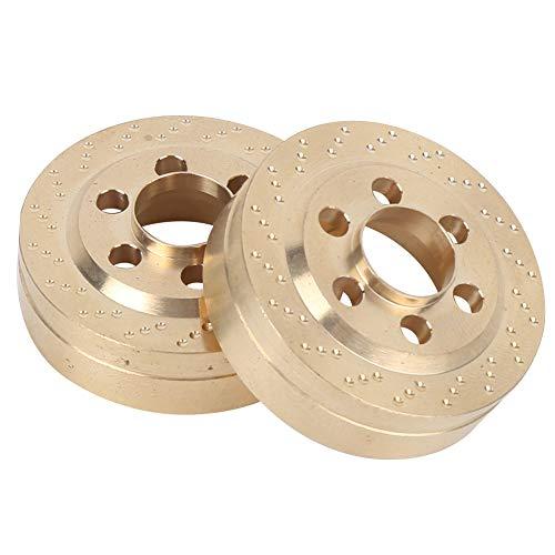 Dilwe 2PCS Messing Gegengewicht Balance Gewicht Ersatzteile Passend für SCX10 TRX4 RC Crawler Kletterauto(Dünner Typ)
