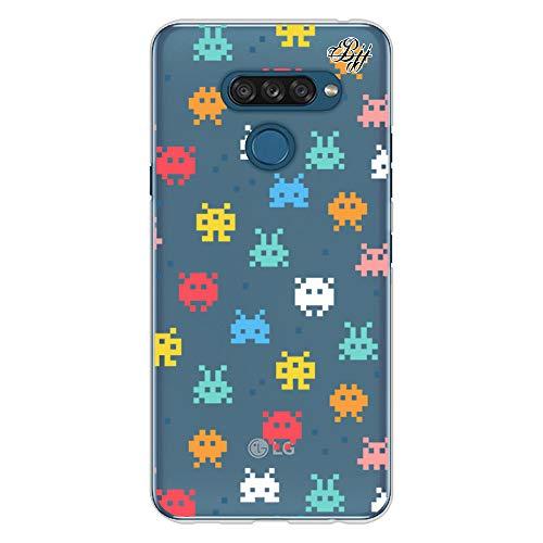 BJJ SHOP Transparent Slim Hülle für [ LG K50s ], Klar Flexible Silikonhülle, Design : Retro-Gaming-Pixel-Spiel