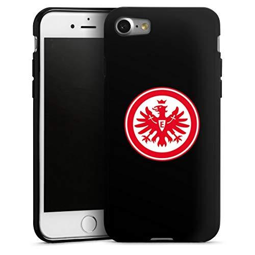 DeinDesign Silikon Hülle kompatibel mit Apple iPhone 8 Hülle schwarz Handyhülle Eintracht Frankfurt SGE Adler