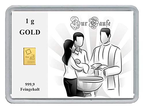 New Edition 1g Goldbarren 999,9 Feingehalt in einer Kapsel mit Motivbox