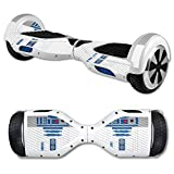 MightySkins Carbon Fiber Skin for Self Balancing Mini Scooter Hover Board - Cyber Bot | Protective, Durable Textured Carbon Fiber Finish | Easy to Apply, Remove, and Change Styles | Made in The USA